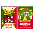 mexican cinco de mayo holiday party posters vector image