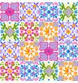mexican talavera ceramic tile pattern cute naive vector image vector image