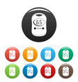 modern glucose meter icons set color vector image vector image