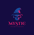modern professional logo emblem mystic in blue and vector image