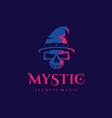 modern professional logo emblem mystic in blue vector image