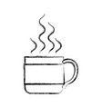 monochrome blurred silhouette of hot coffee cup vector image vector image