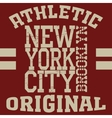New york typography t-shirt vector image vector image
