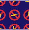 prohibition sign industry production vector image vector image