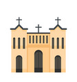 protestant church icon flat style vector image vector image