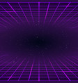 retro style background laser rays purpur color vector image vector image