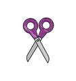 scissors cut utensil vector image vector image