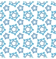 seamless geometric pattern Snowflakes vector image vector image