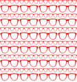 seamless red pattern sunglasses vector image vector image