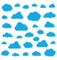 set clouds isolated on sky background seamless vector image vector image