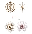 Set of compass elements vector image vector image