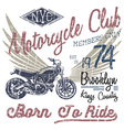 T-shirt typography design motorcycle NYC printing