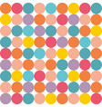 tile pattern with pastel polka dots on white vector image vector image