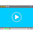 Video movie media player interface vector image