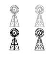 wind turbine windmill classic american icon vector image vector image