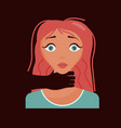 woman has a panic attack vector image vector image