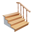 wooden stairs vector image
