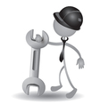 People with a wrench vector image