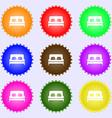 Sofa Icon sign Big set of colorful diverse vector image