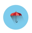 Umbrella flat icon vector image