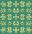 seamless pattern with stars on green background vector image