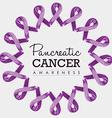Pancreatic cancer awareness ribbon art design vector image