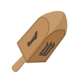 A wooden dreidel cartoon icon vector image vector image