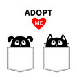 adopt me dont buy dog cat in pocket pet adoption vector image vector image