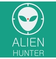 alien hunter on green background vector image vector image