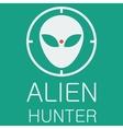 alien hunter on green background vector image vector image