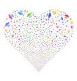 alien invasion fireworks heart vector image vector image