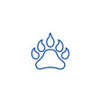 animal footprint line icon concept animal vector image