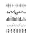 Audio equalizer vector image vector image