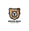 bear head mascot logo designs vector image vector image