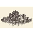 Big City Concept Architecture Engraved vector image vector image