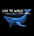 blue whale art vector image