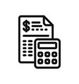 budget icon vector image