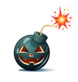 cartoon bomb pumpkin characters halloween vector image