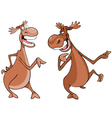 Cartoon characters two moose talk vector image