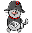 cat and fish cartoon vector image vector image