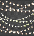 christmas lights set of golden xmas vector image