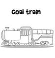 Coal train of hand draw vector image