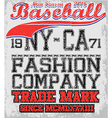 College baseball team badge in retro style Graphic vector image