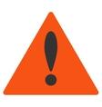 Danger Flat Icon vector image vector image