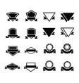 design label 16 item vector image vector image