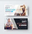 design of a gift voucher with diagonal lines and vector image vector image