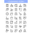 disinfection line icons vector image vector image