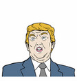donald trump 45th president of usa design vector image vector image