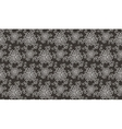 Elegant white flower seamless pattern on brown vector image vector image