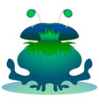 fantastic water monster graphics hand vector image